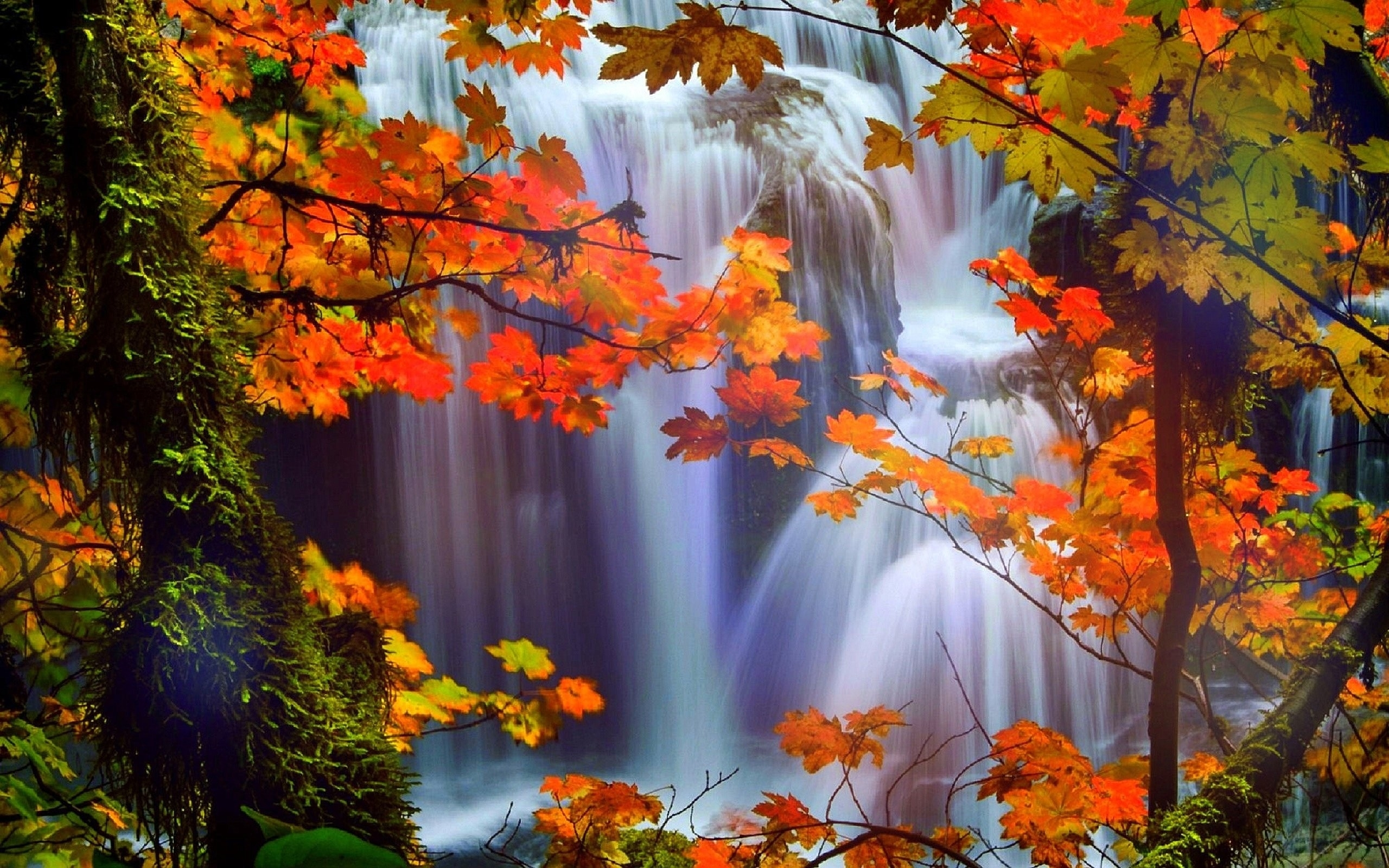 waterfalls: colors love autumn attractions landscapes four pre