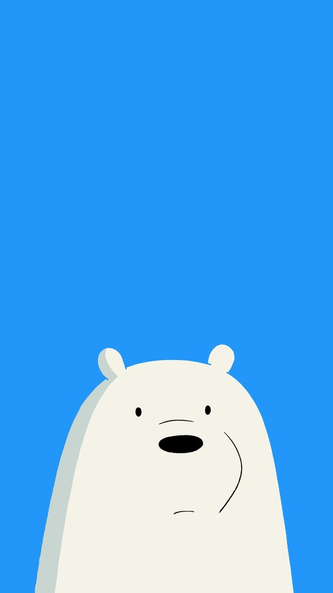 we bare bears - icebear mobile wallpaper 1080x1920affentoast on