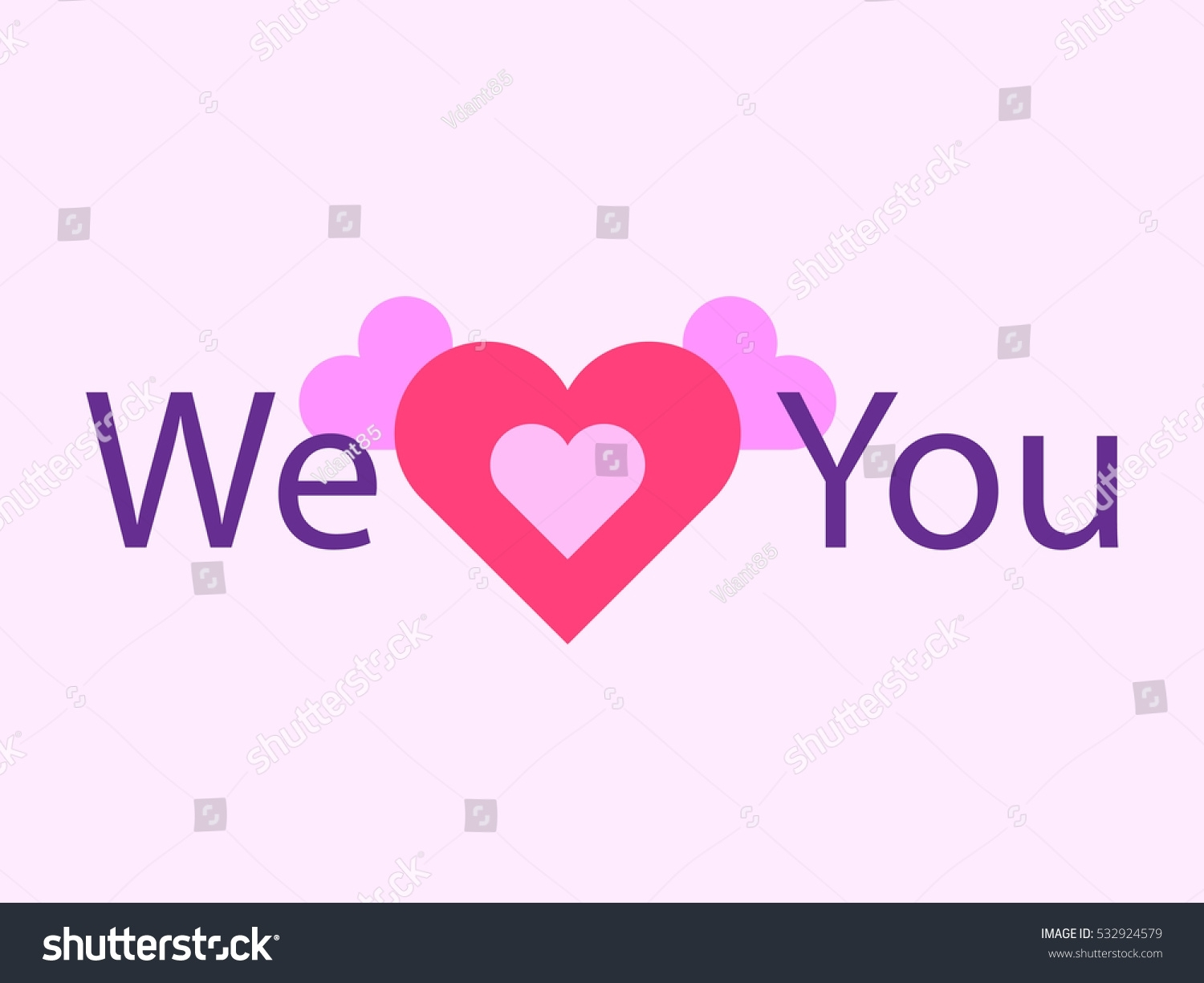 we love you red heart symbol image vectorielle 532924579 - shutterstock
