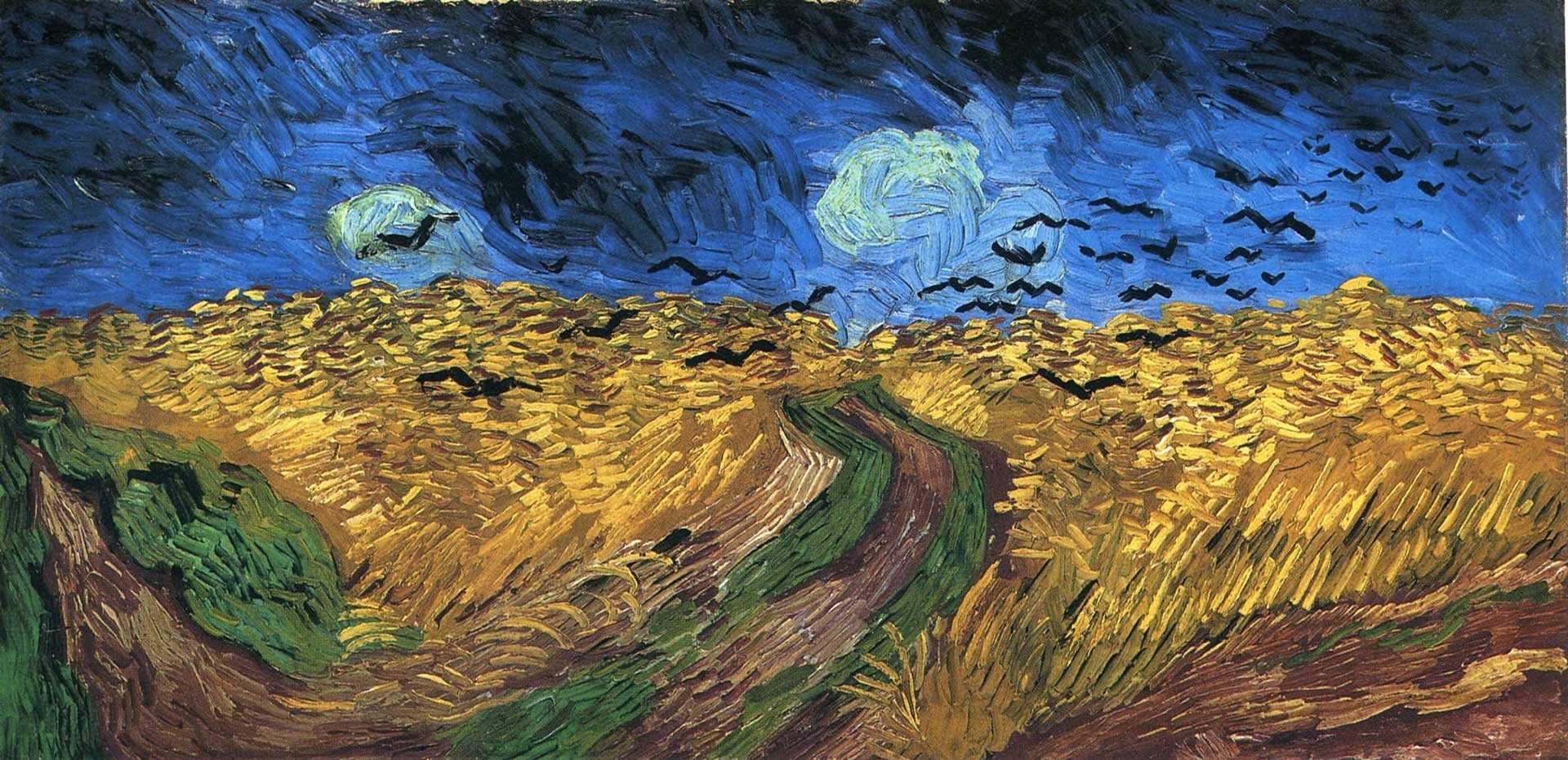 wheatfield with crows - vincent van gogh wallpaper image
