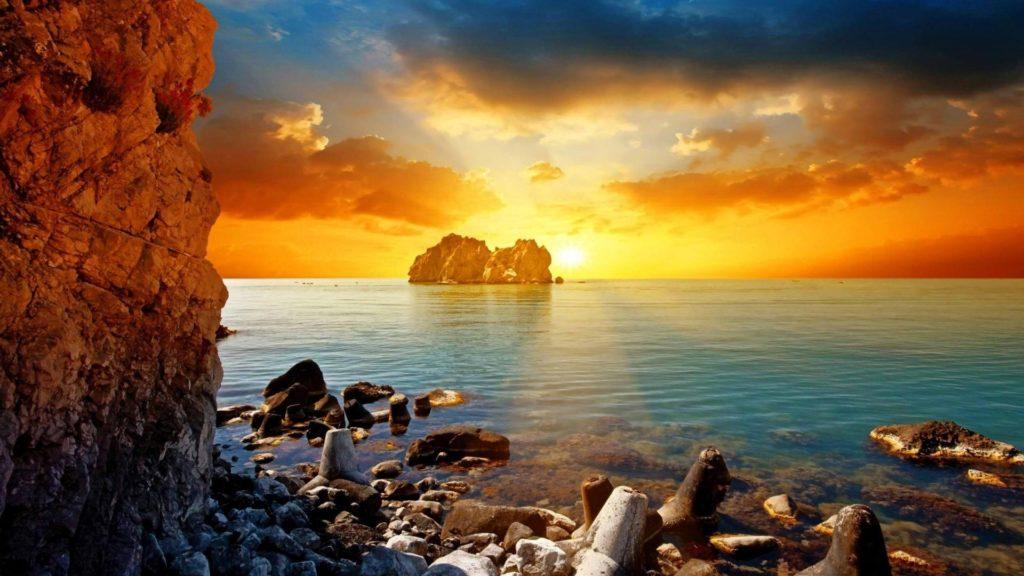 10 Most Popular Hd Wallpapers Beach Sunset FULL HD 1920×1080 For PC Desktop 2020 free download widescreen beach sunset hd wallpapers top destinations 1024x576