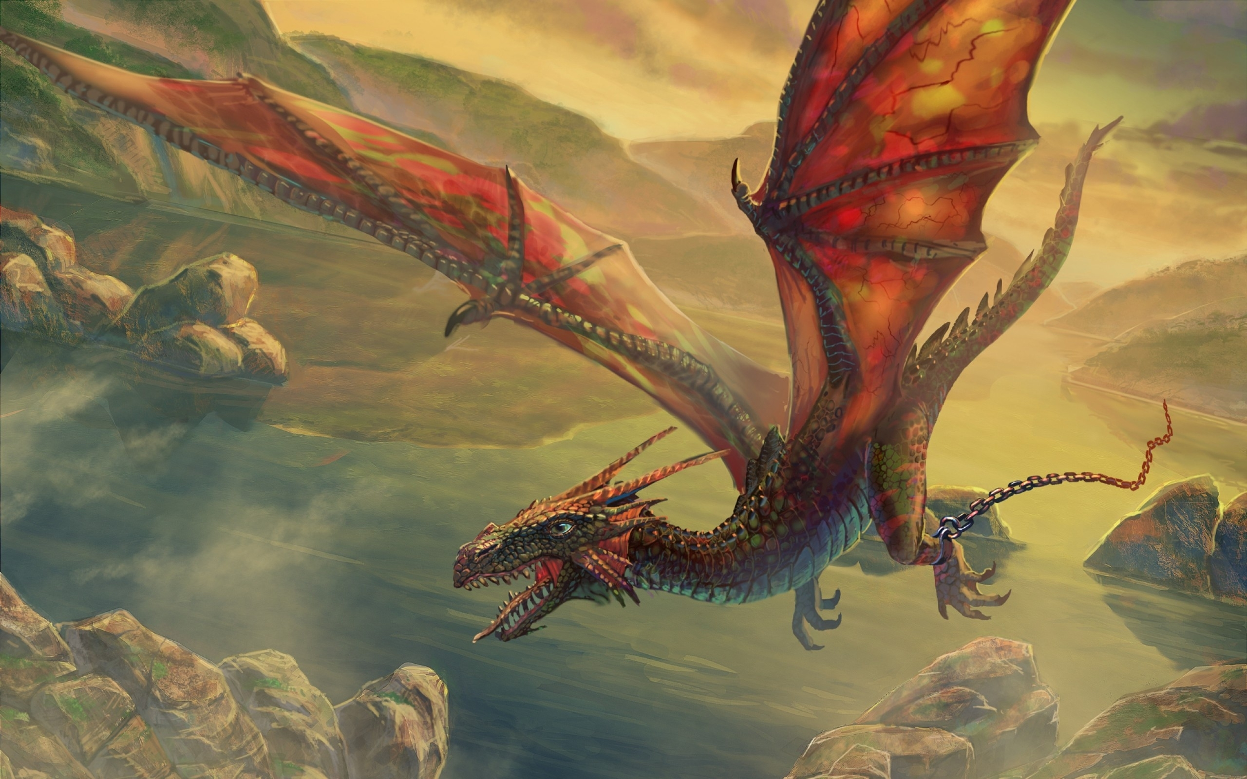 wings dragons flying fantasy art escape artwork air skyscapes
