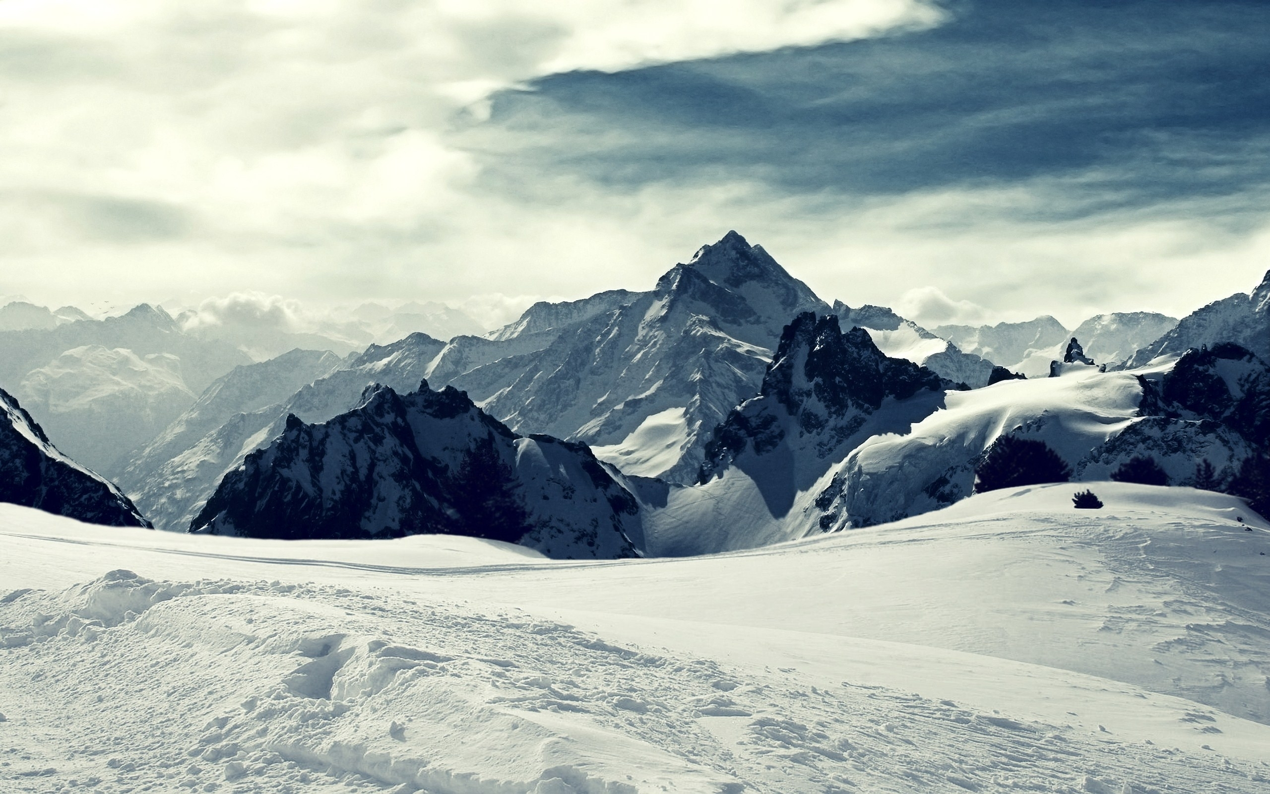 winter mountains picture