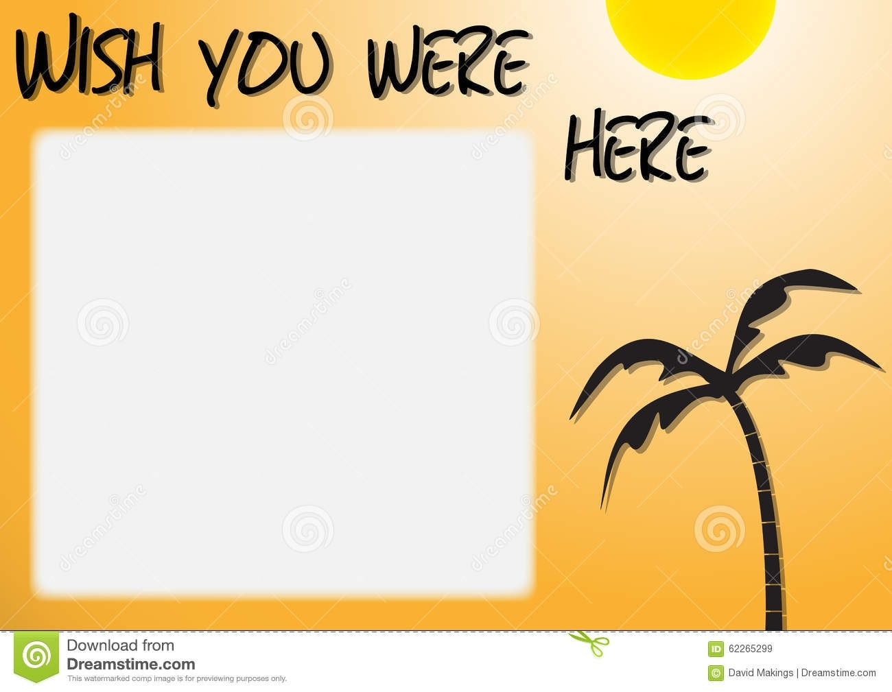 wish you were here stock illustration. illustration of nature - 62265299