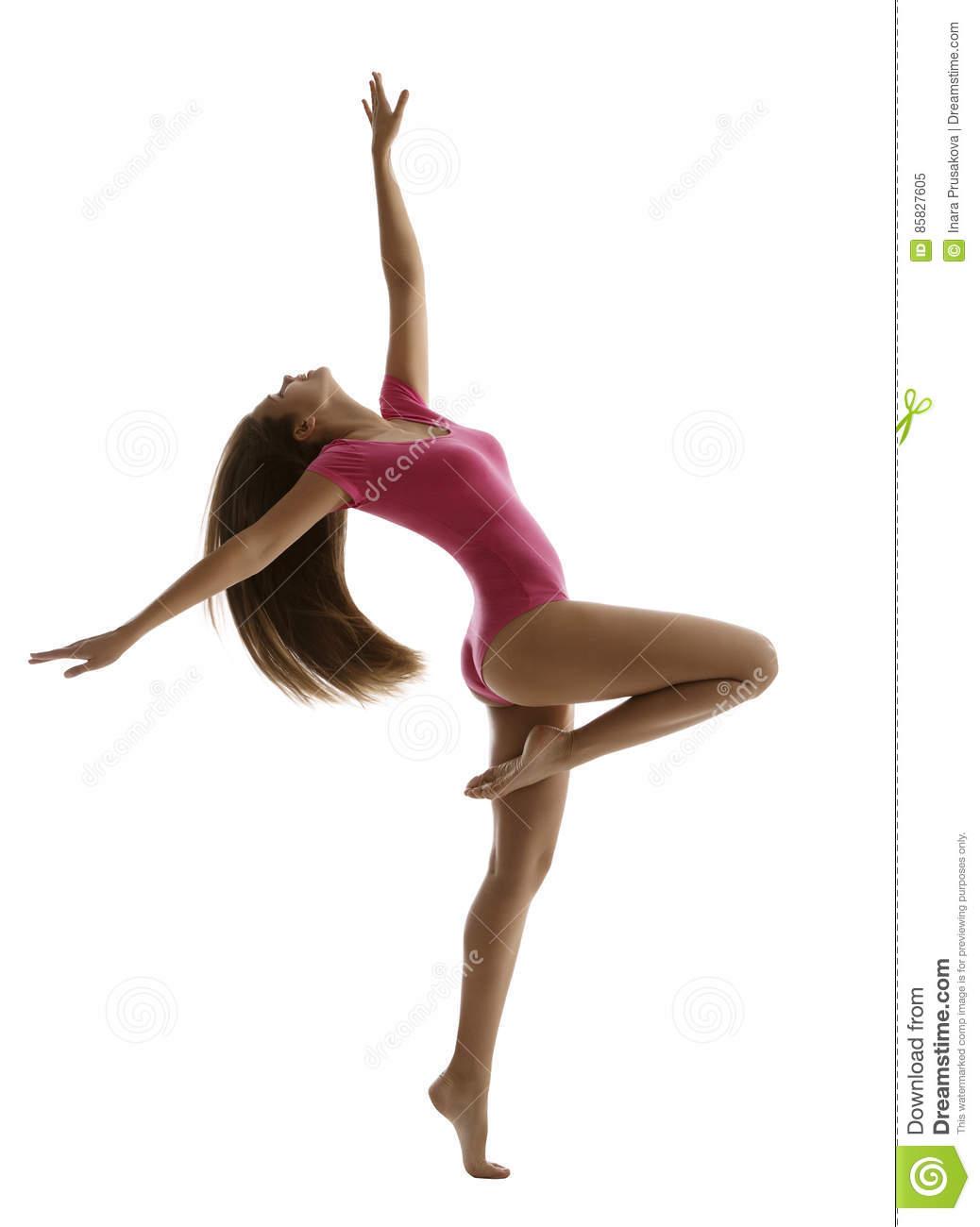 woman sport dancing, girl fitness dancer, young gymnast stock image