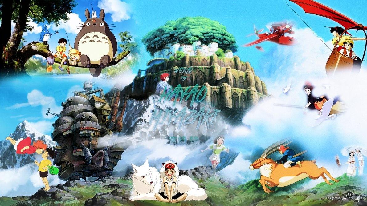 world of hayao miyazaki wallpaperwillstyle on deviantart