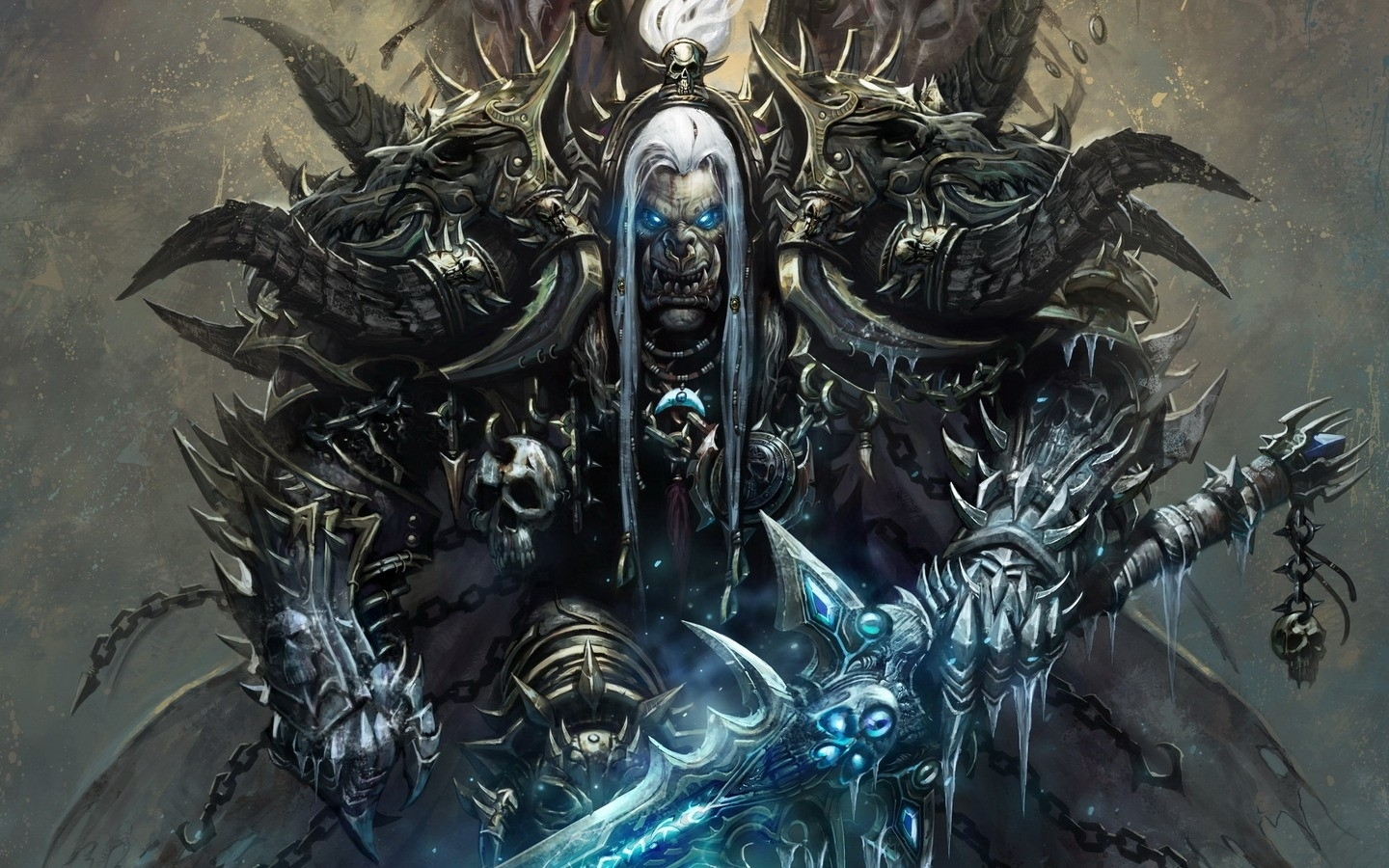 world of warcraft death knight frostmourne orc - wallpaper (#1208615