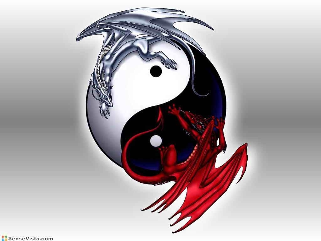 yin yang dragon wallpapers - wallpaper cave