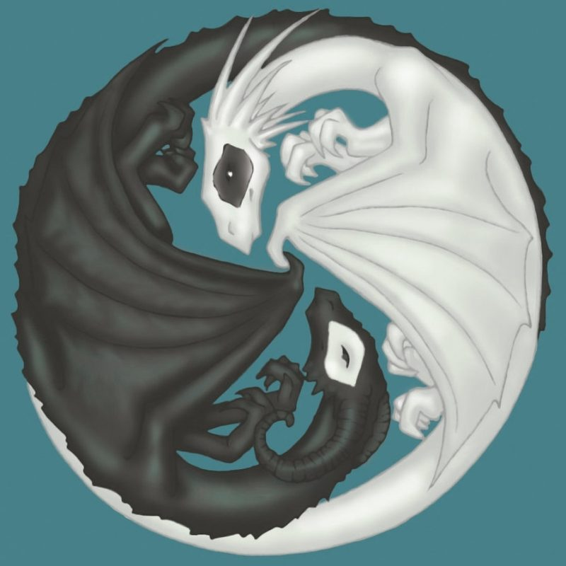 10 Top Yin And Yang Dragons FULL HD 1920×1080 For PC Background 2018 free download yin yang dragons for angelicdemise on dcrisicat on deviantart 800x800