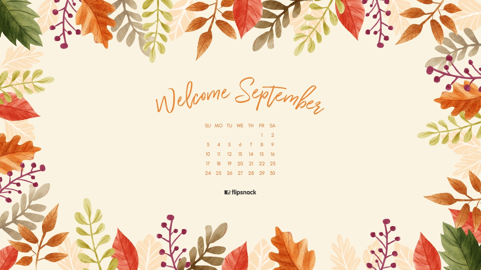 your september 2017 calendar wallpaper is here. get it!